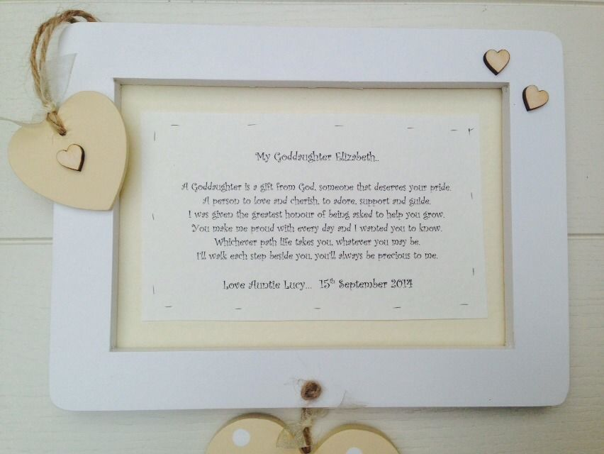 Shabby personalised Gift Chic Special Goddaughter Christening ...